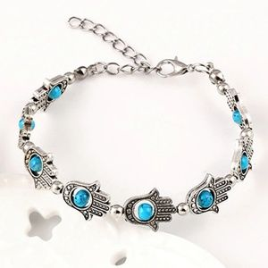 Jewelry - Boho Hamsa Hand Eye Protection Bracelet Anklet B4